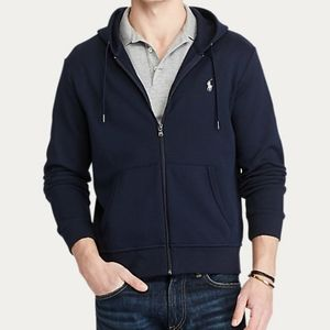 New Polo Ralph Lauren Navy Zip-up Hoodie